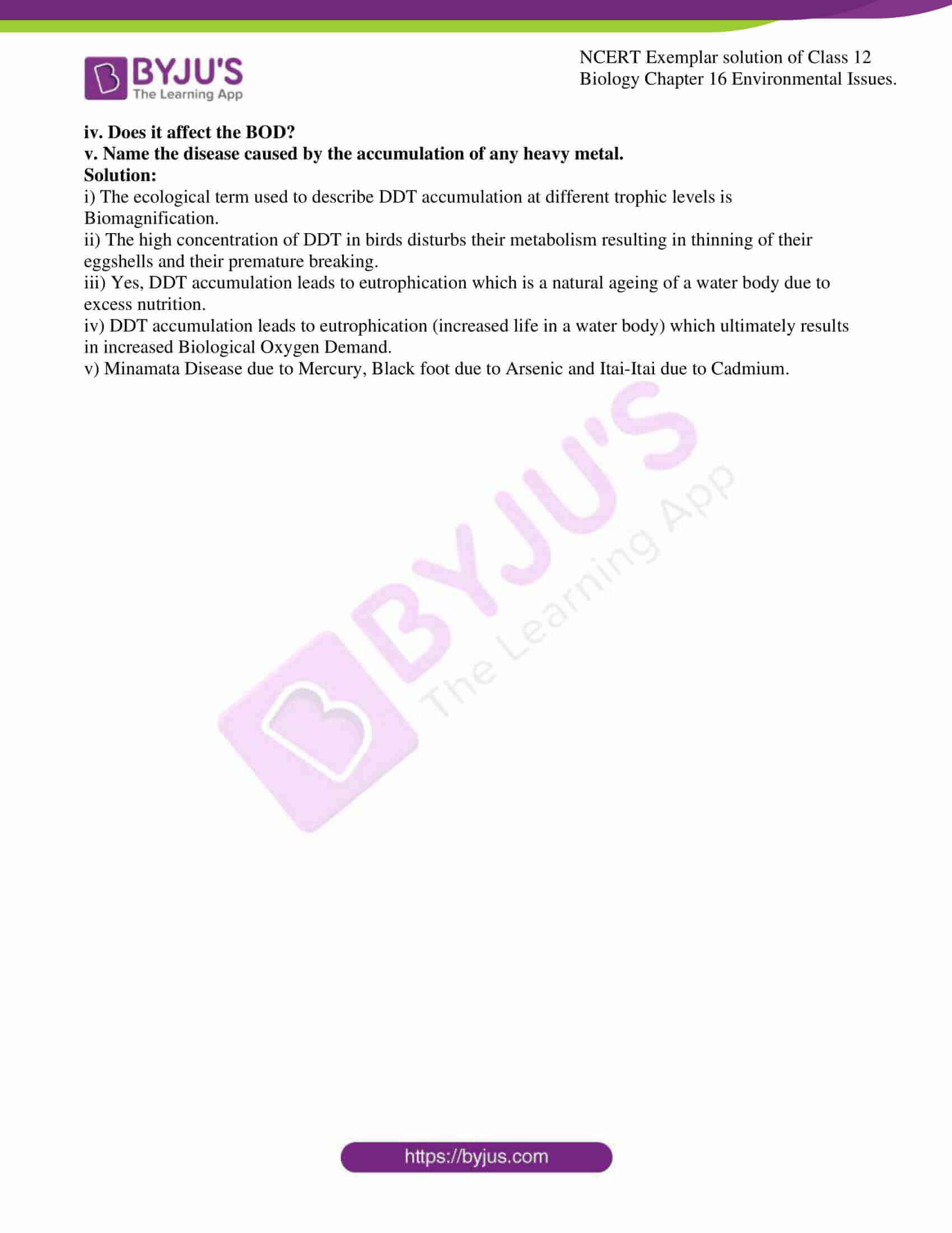 ncert exemplar solution of class 12 biology chapter 16 11