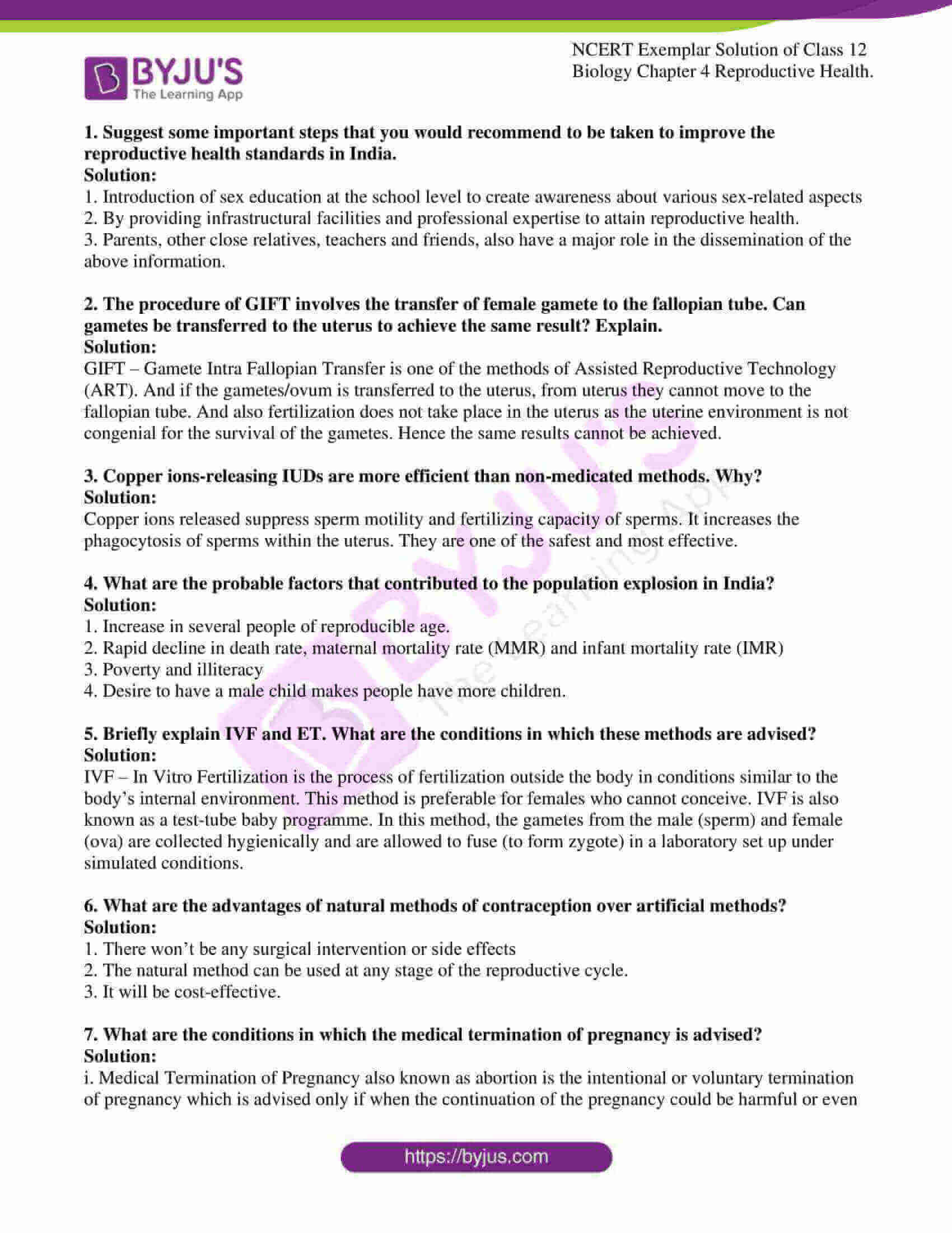 ncert exemplar solution of class 12 biology chapter 4 5