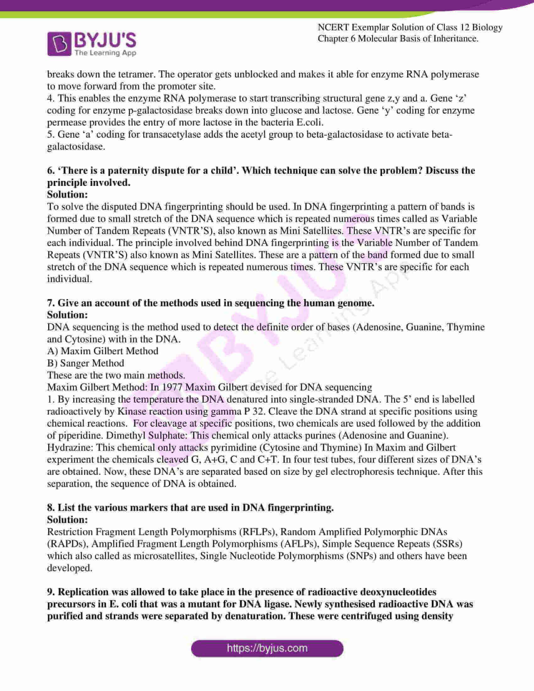 ncert exemplar solution of class 12 biology chapter 6 14
