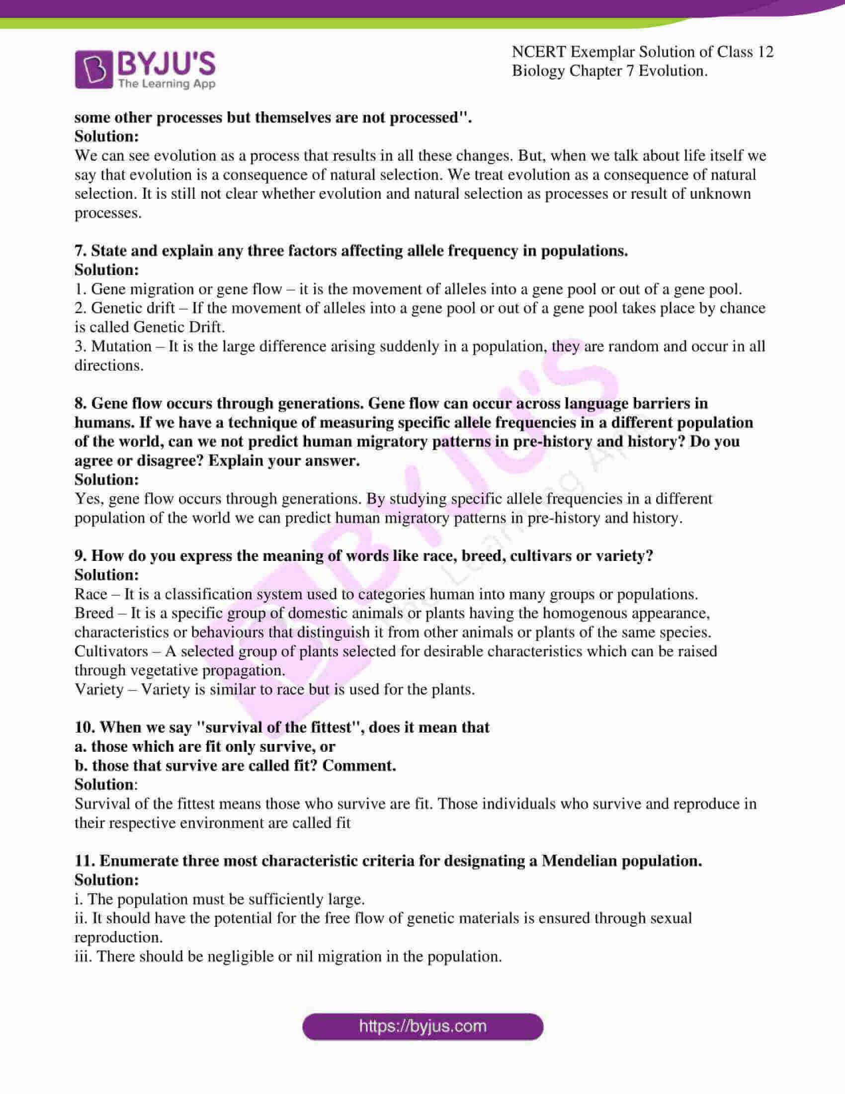 ncert exemplar solution of class 12 biology chapter 7 7