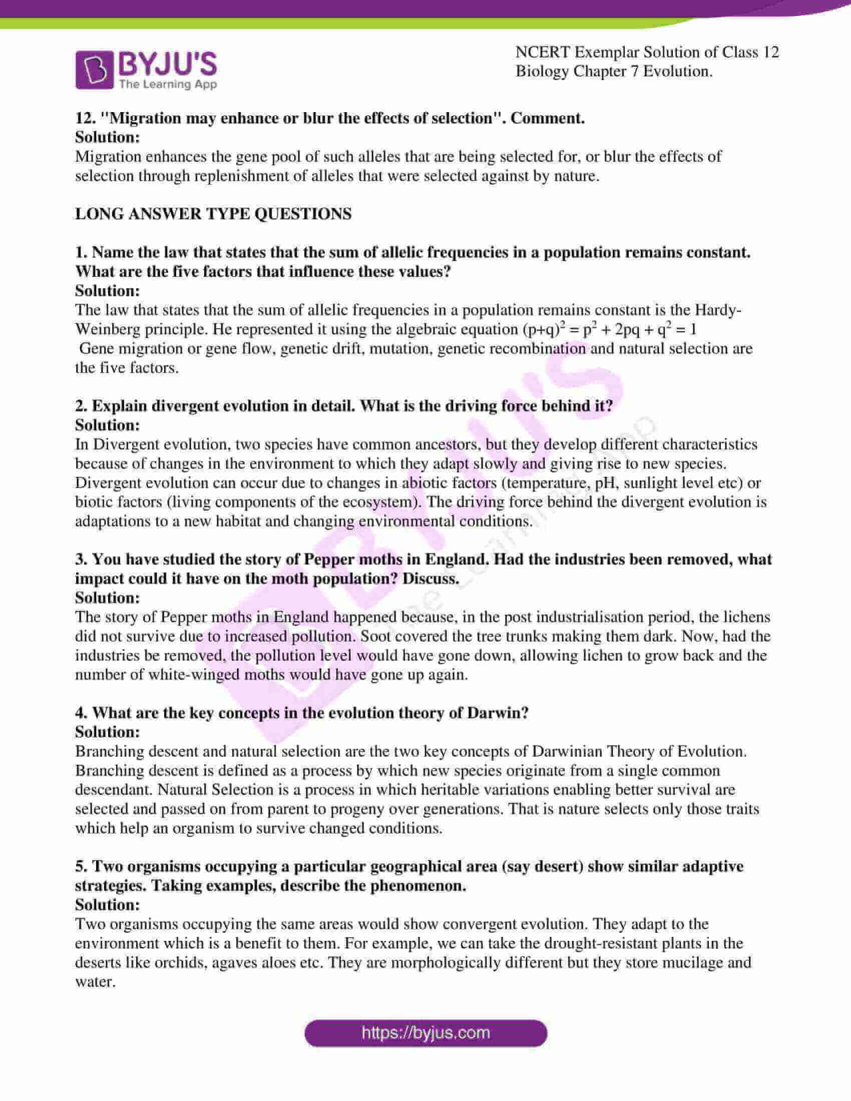 ncert exemplar solution of class 12 biology chapter 7 8