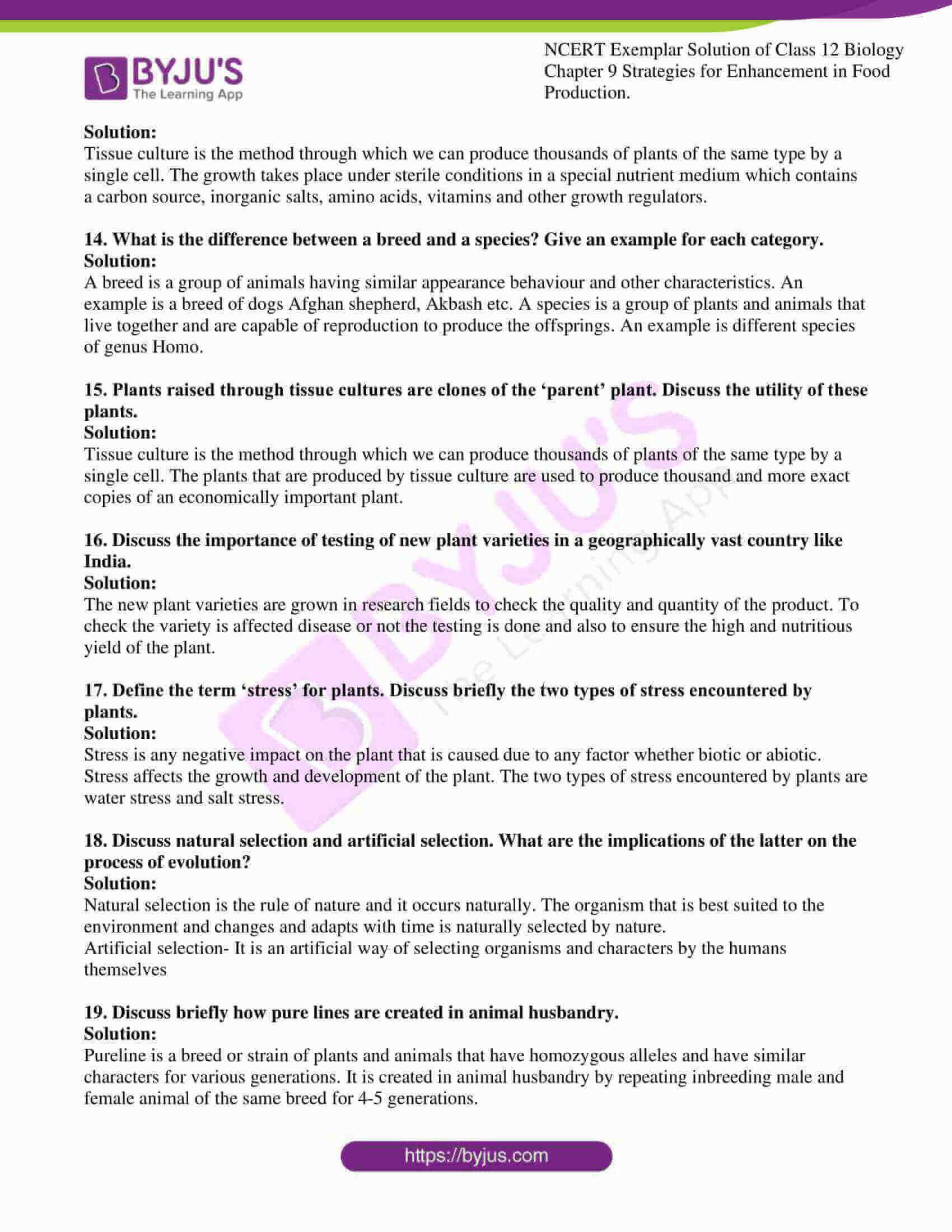 ncert exemplar solution of class 12 biology chapter 9 11