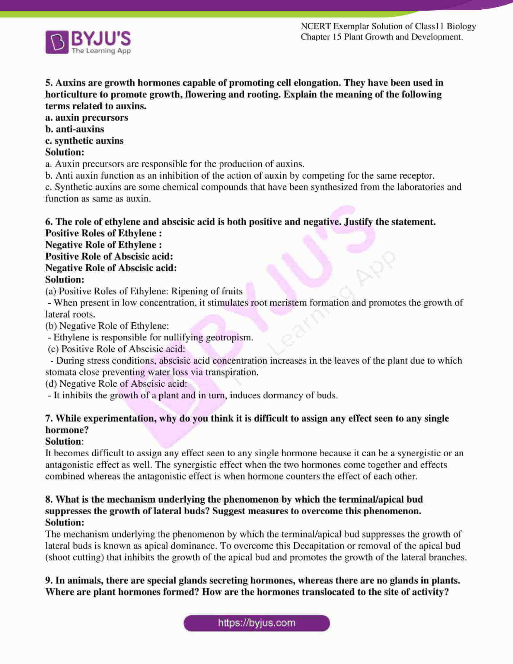 ncert exemplar solutions class 11 biology chapter 15 07