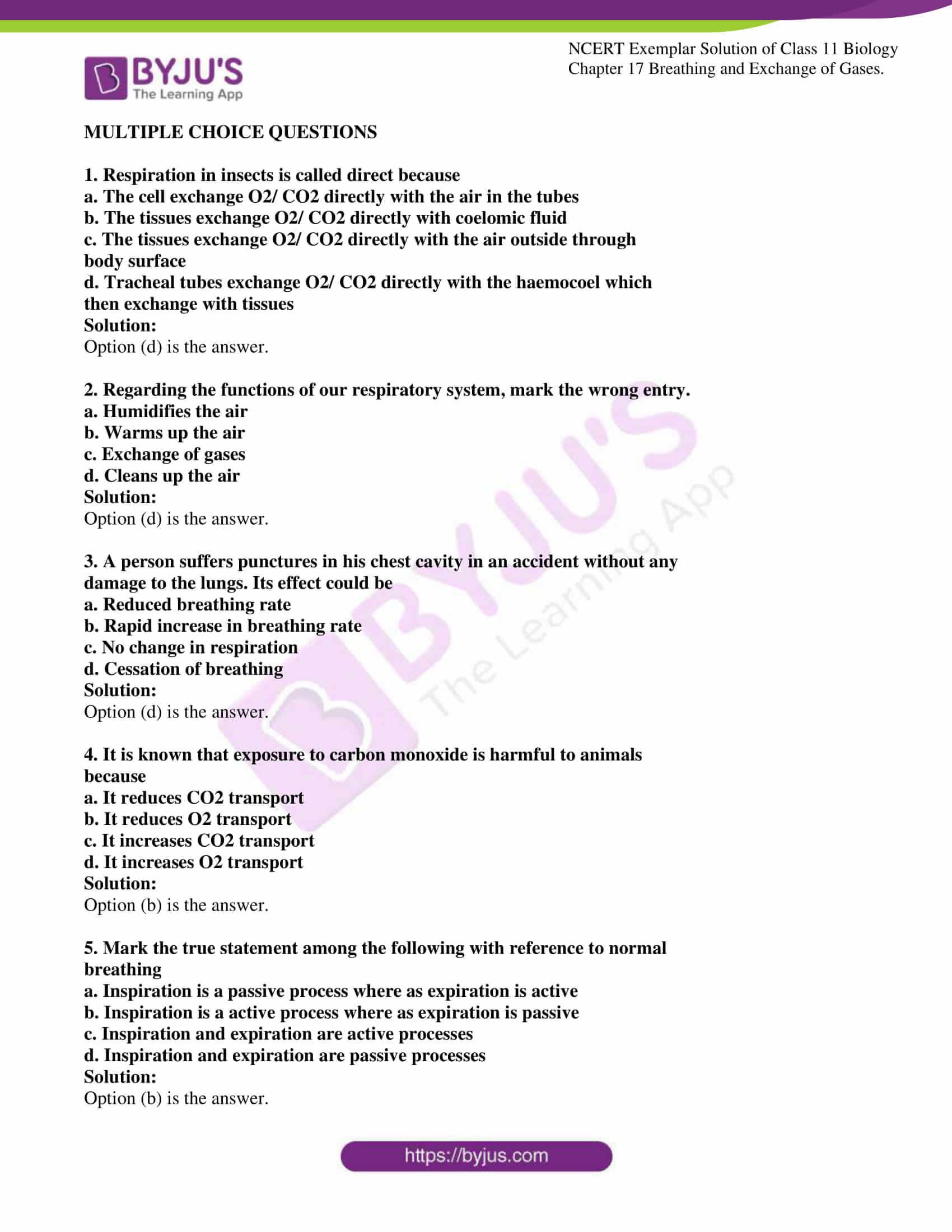 ncert exemplar solutions class 11 biology chapter 17 1