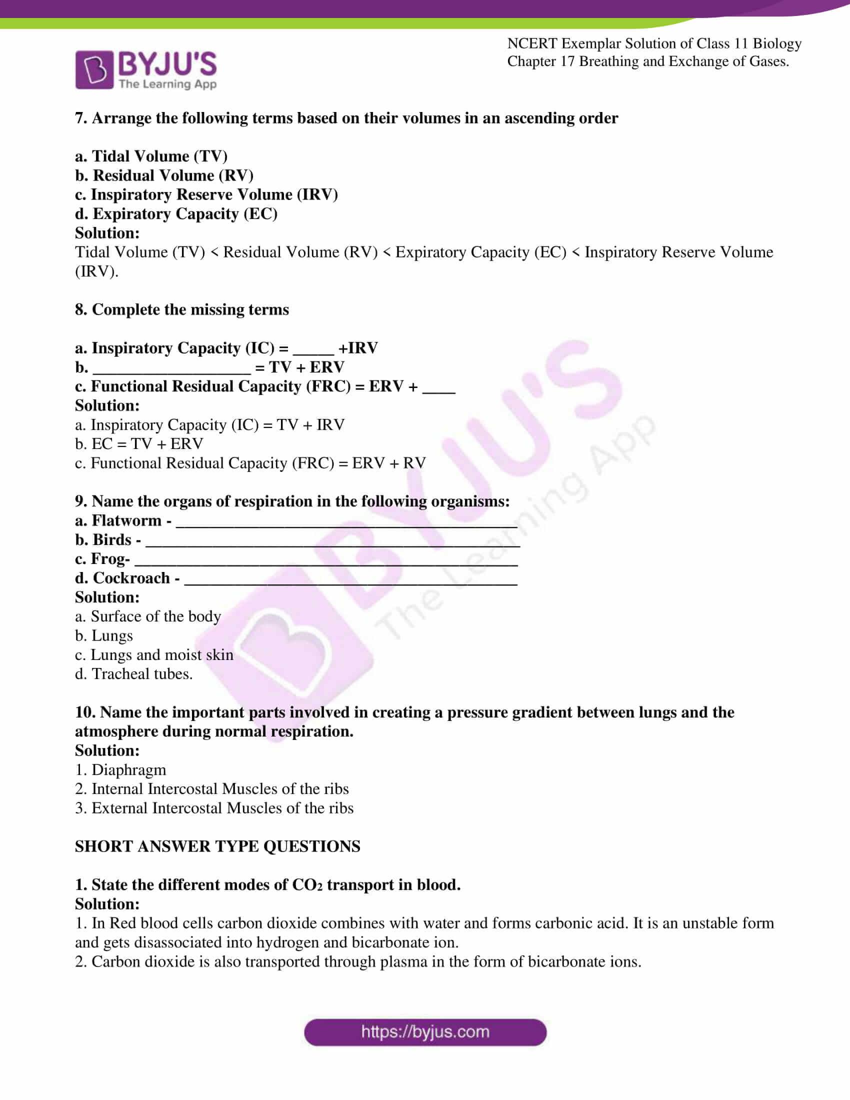 ncert exemplar solutions class 11 biology chapter 17 5