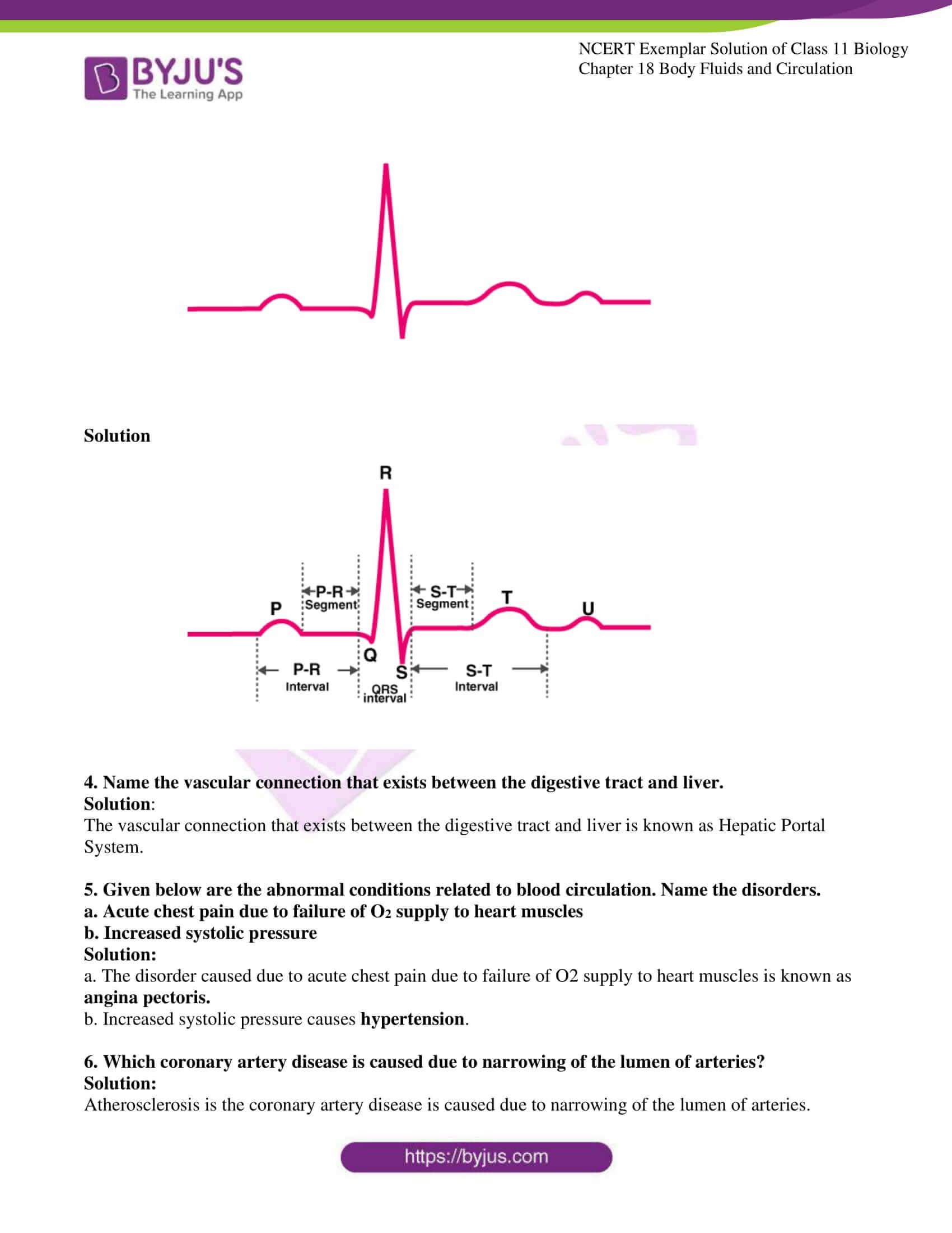 NCERT Exemplar Solution for Class 11 Biology Chapter 18 ...