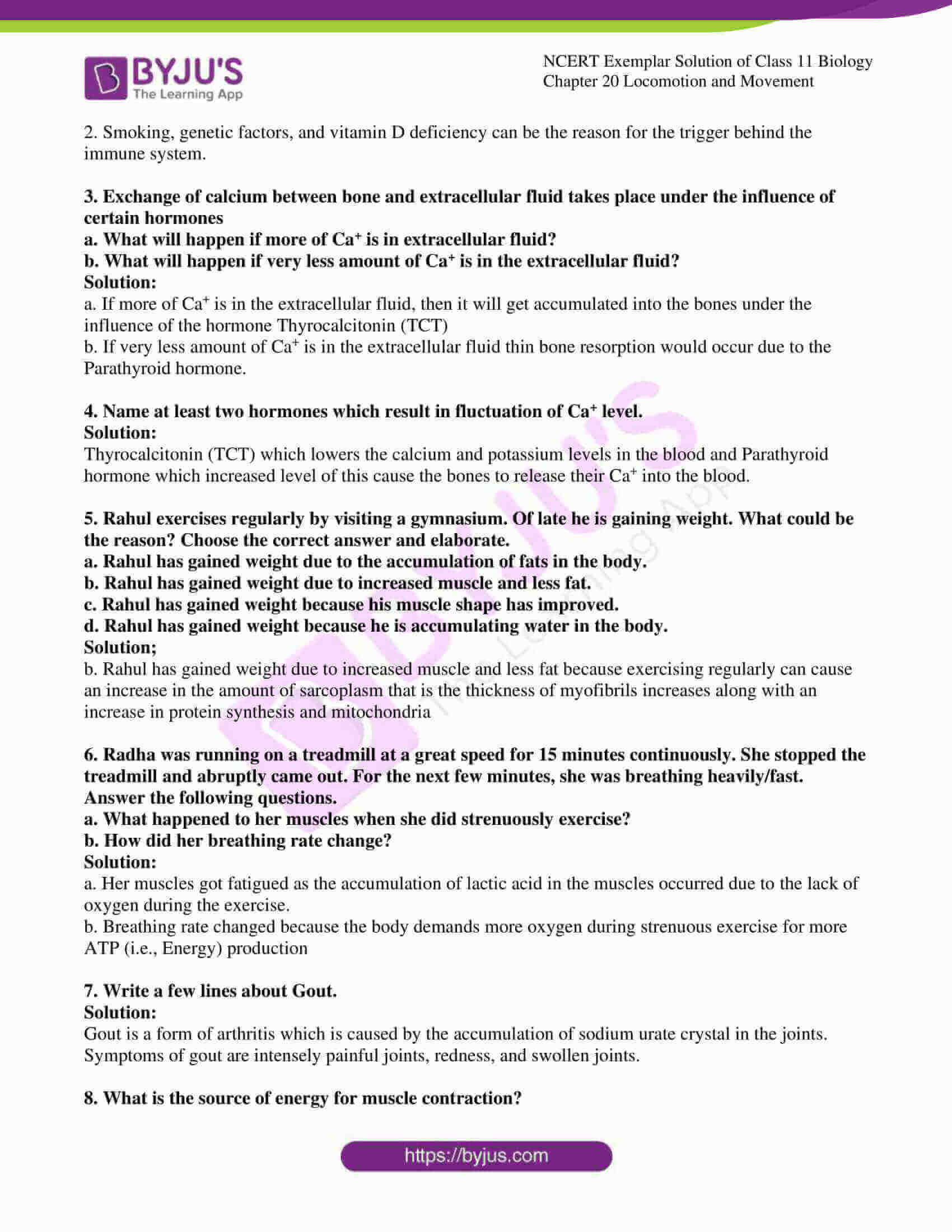 ncert exemplar solutions class 11 biology chapter 20 6