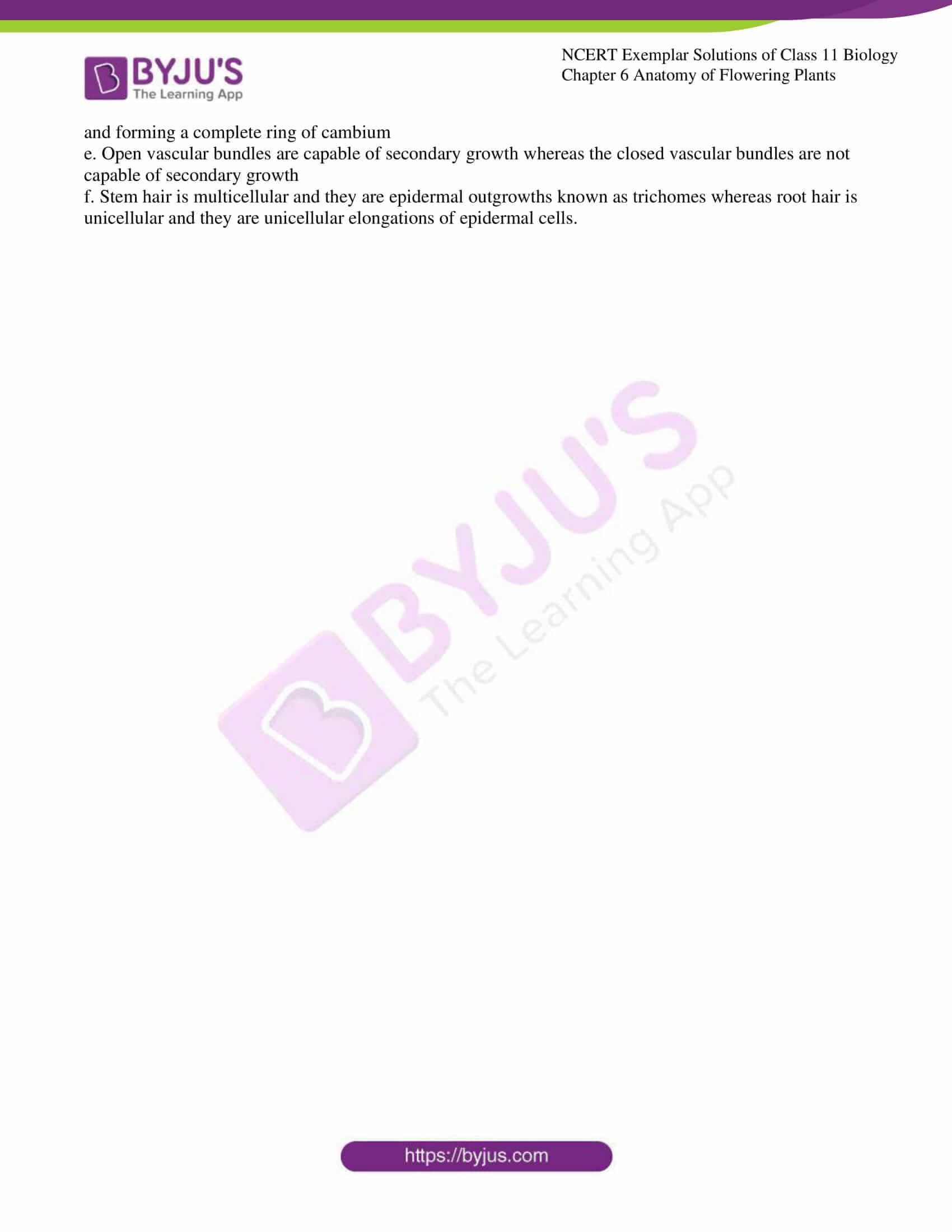 ncert exemplar solutions class 11 biology chapter 6 12