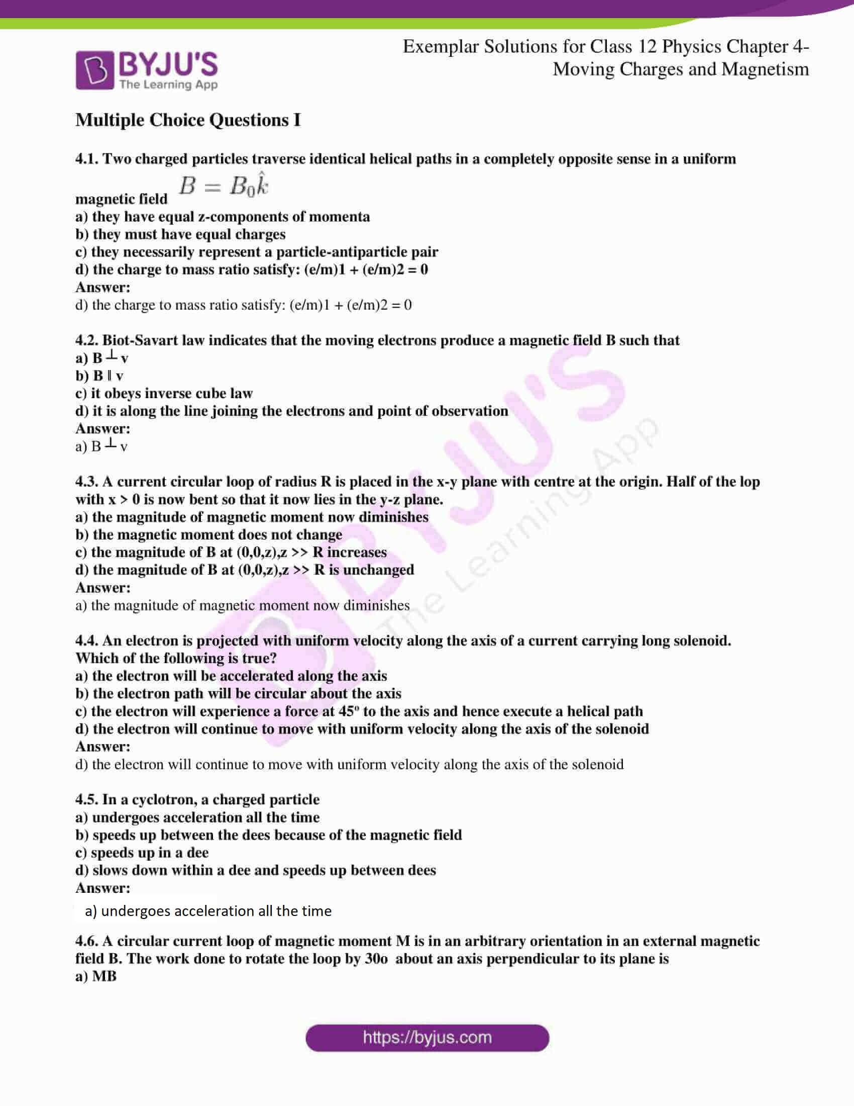 ncert exemplar solutions for class 12 physics chapter 4 01