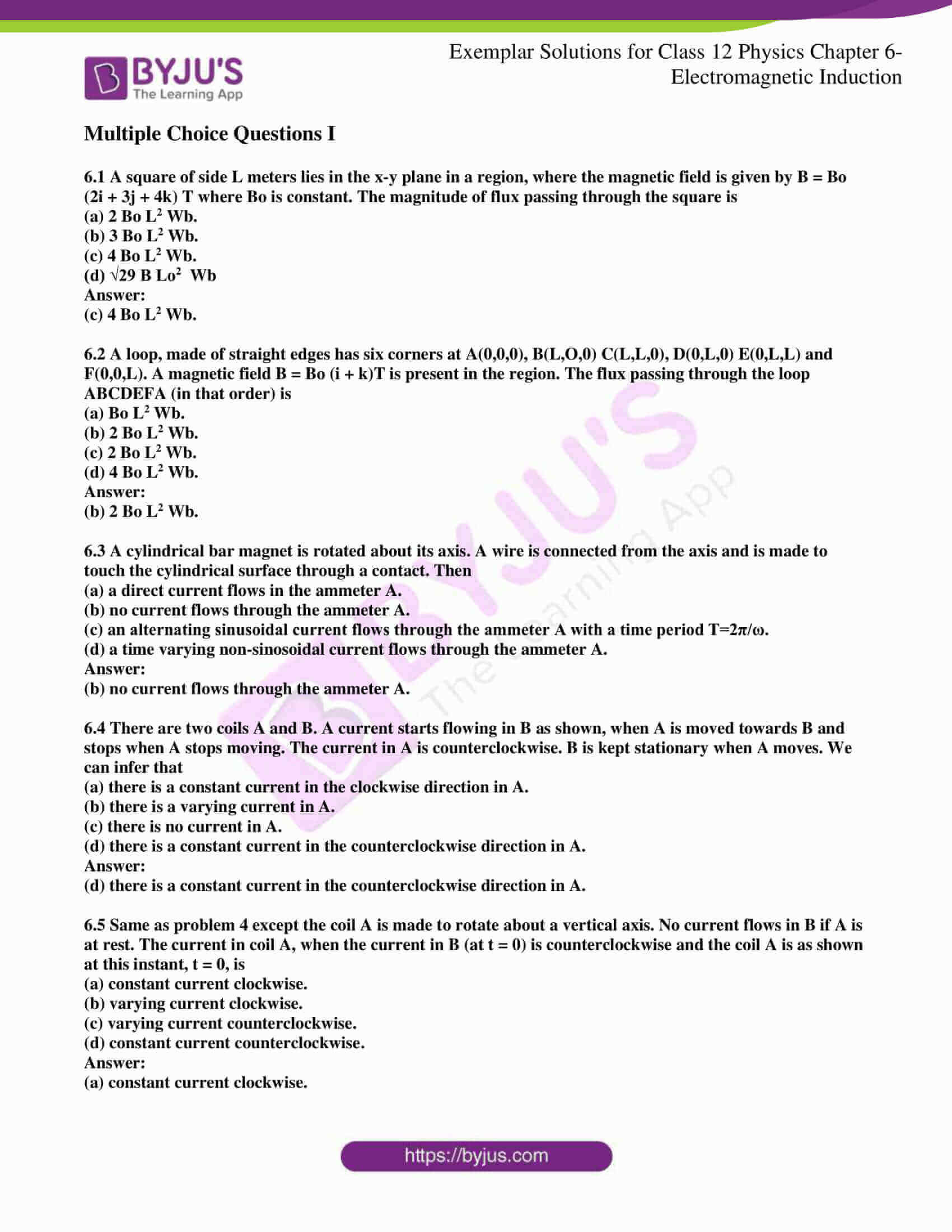 ncert exemplar solutions for class 12 physics chapter 6 1
