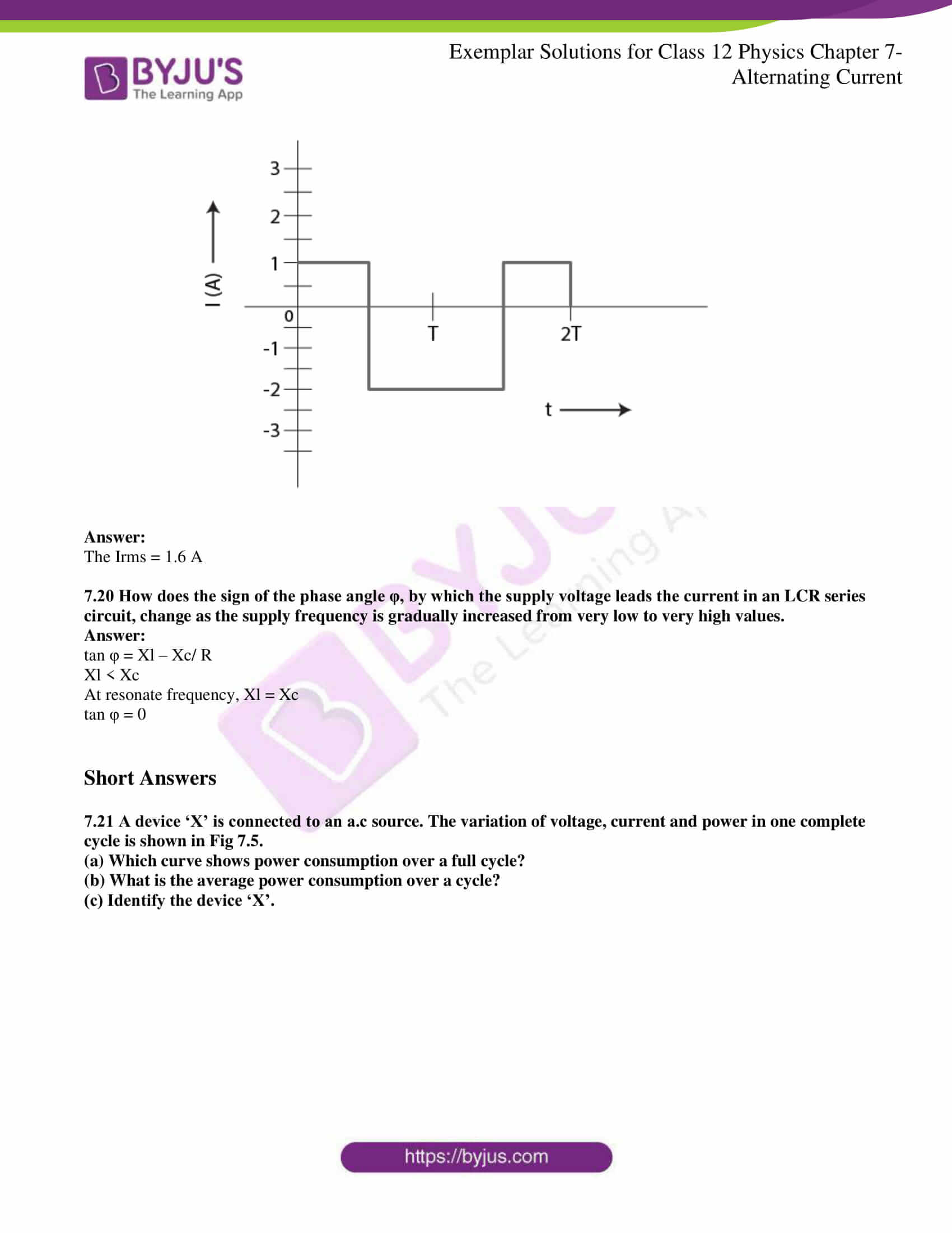 ncert exemplar solutions for class 12 physics chapter 7 6
