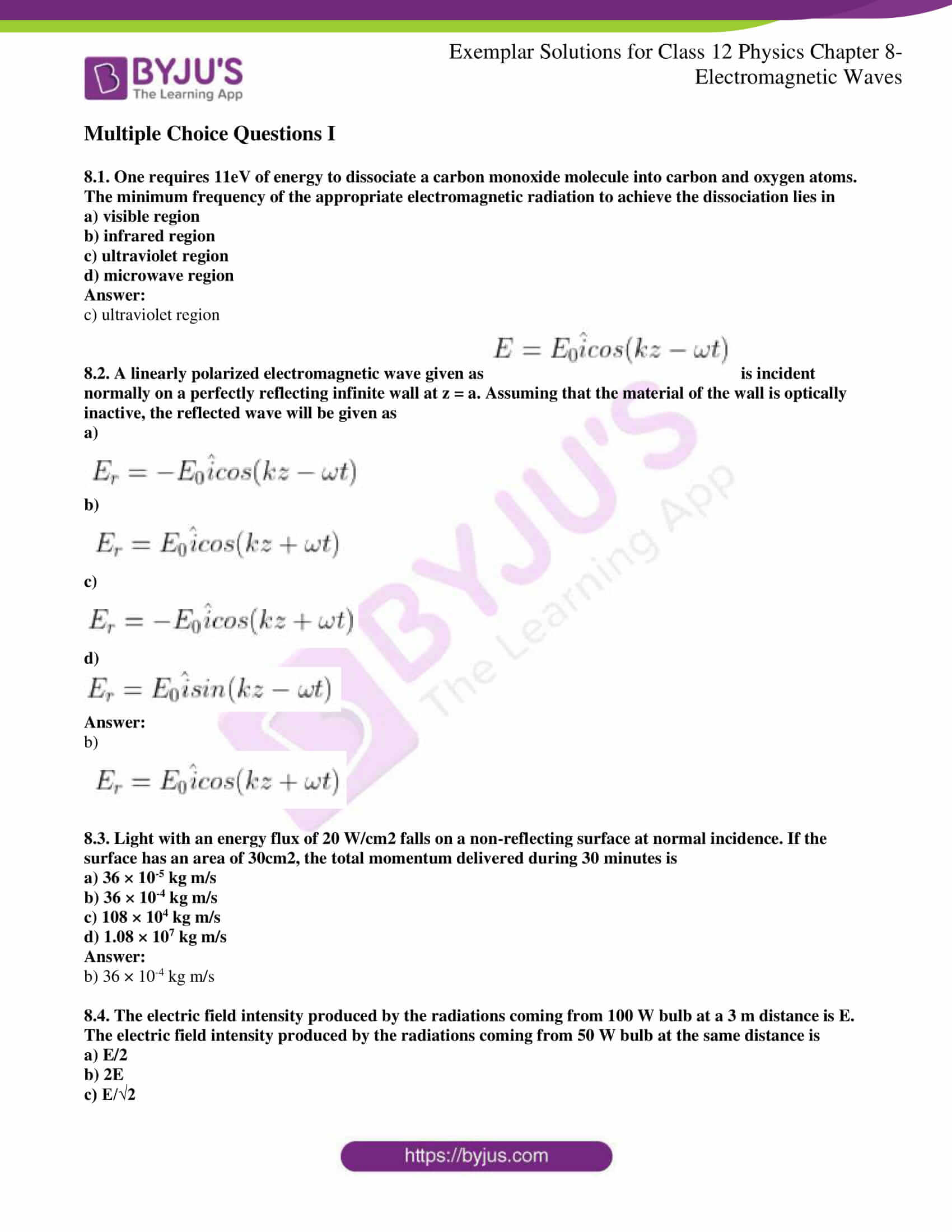 ncert exemplar solutions for class 12 physics chapter 8 01