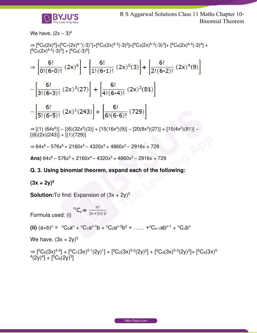r s aggarwal solutions class 11 maths chapter 10 binomial theorem 02