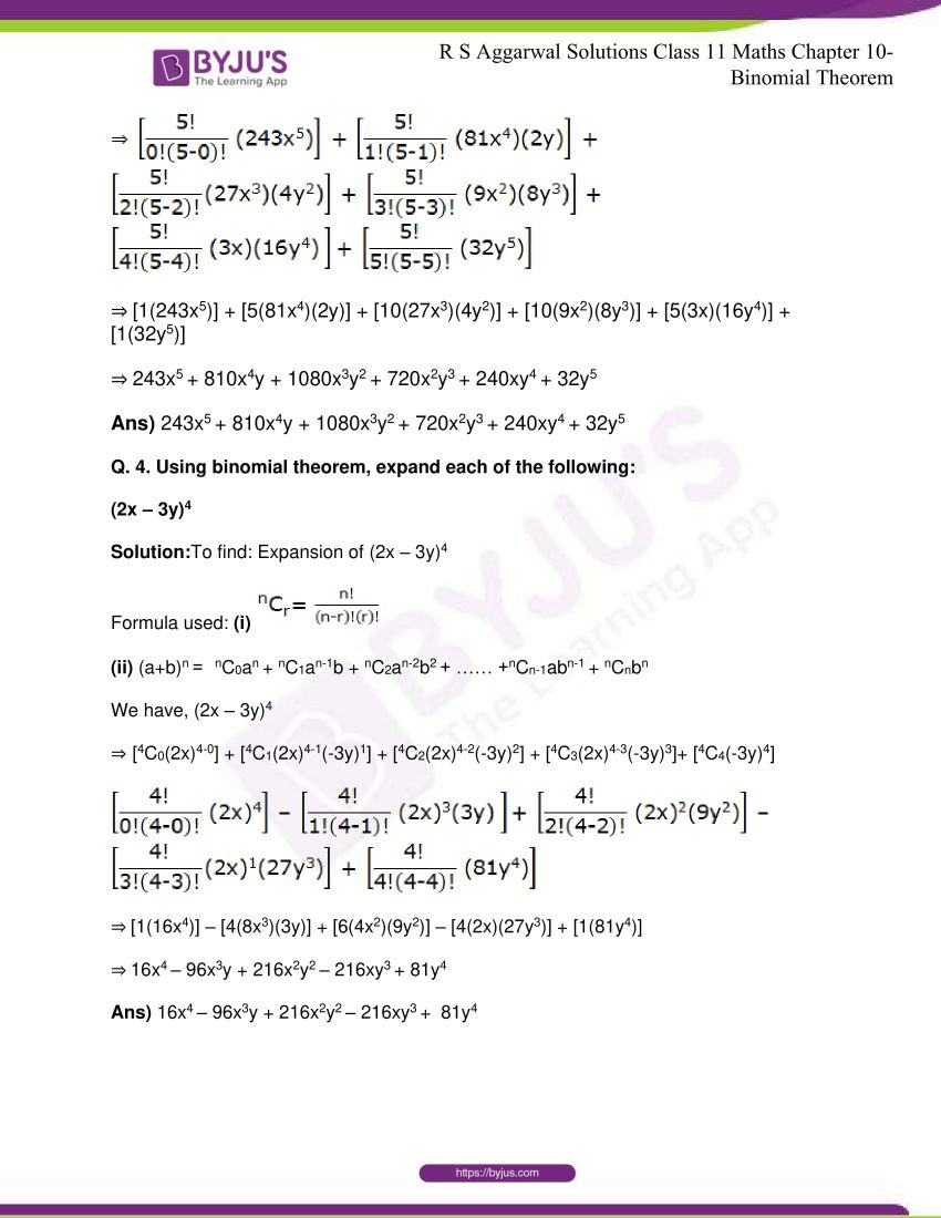 r s aggarwal solutions class 11 maths chapter 10 binomial theorem 03