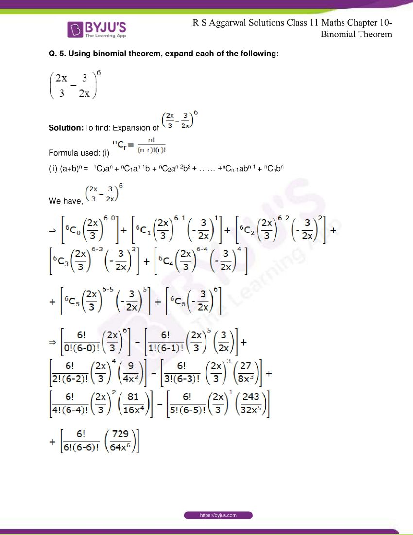 r s aggarwal solutions class 11 maths chapter 10 binomial theorem 04