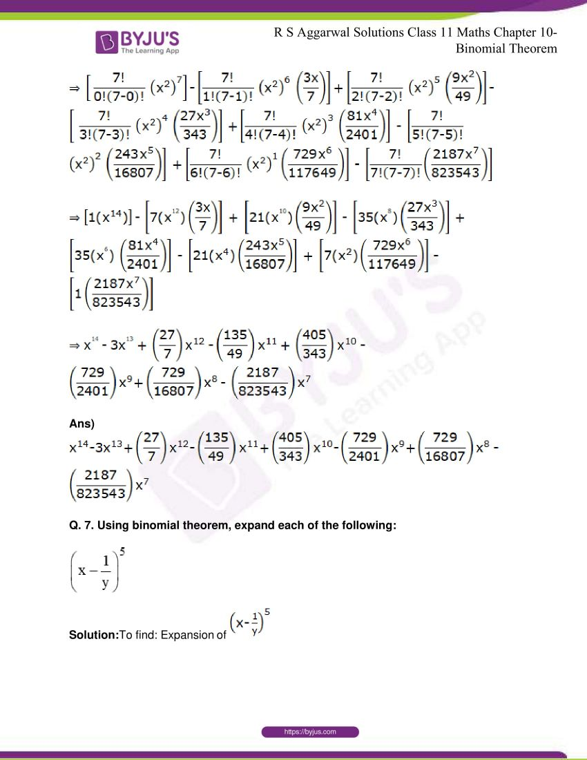 r s aggarwal solutions class 11 maths chapter 10 binomial theorem 06