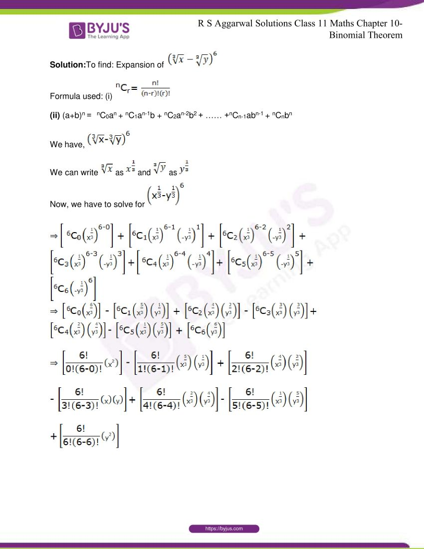 r s aggarwal solutions class 11 maths chapter 10 binomial theorem 09