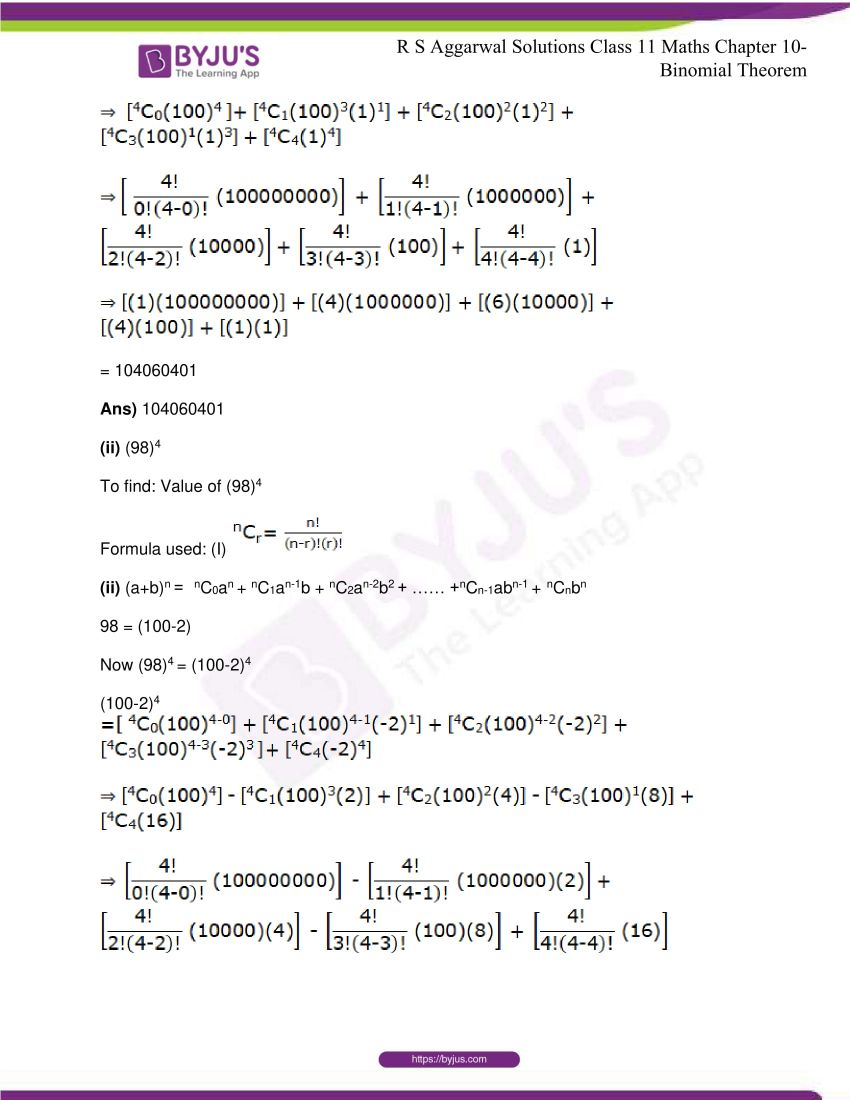 r s aggarwal solutions class 11 maths chapter 10 binomial theorem 23