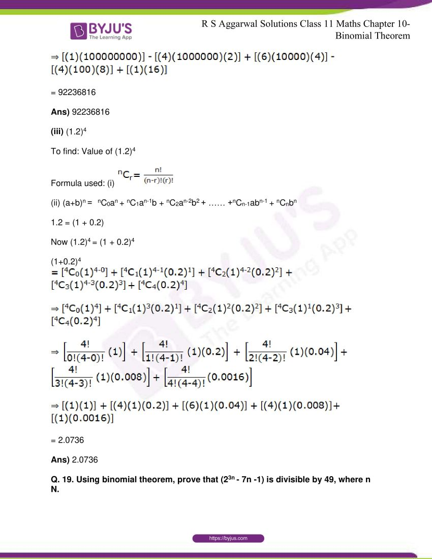 r s aggarwal solutions class 11 maths chapter 10 binomial theorem 24