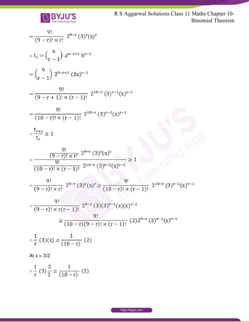 r s aggarwal solutions class 11 maths chapter 10 binomial theorem 67