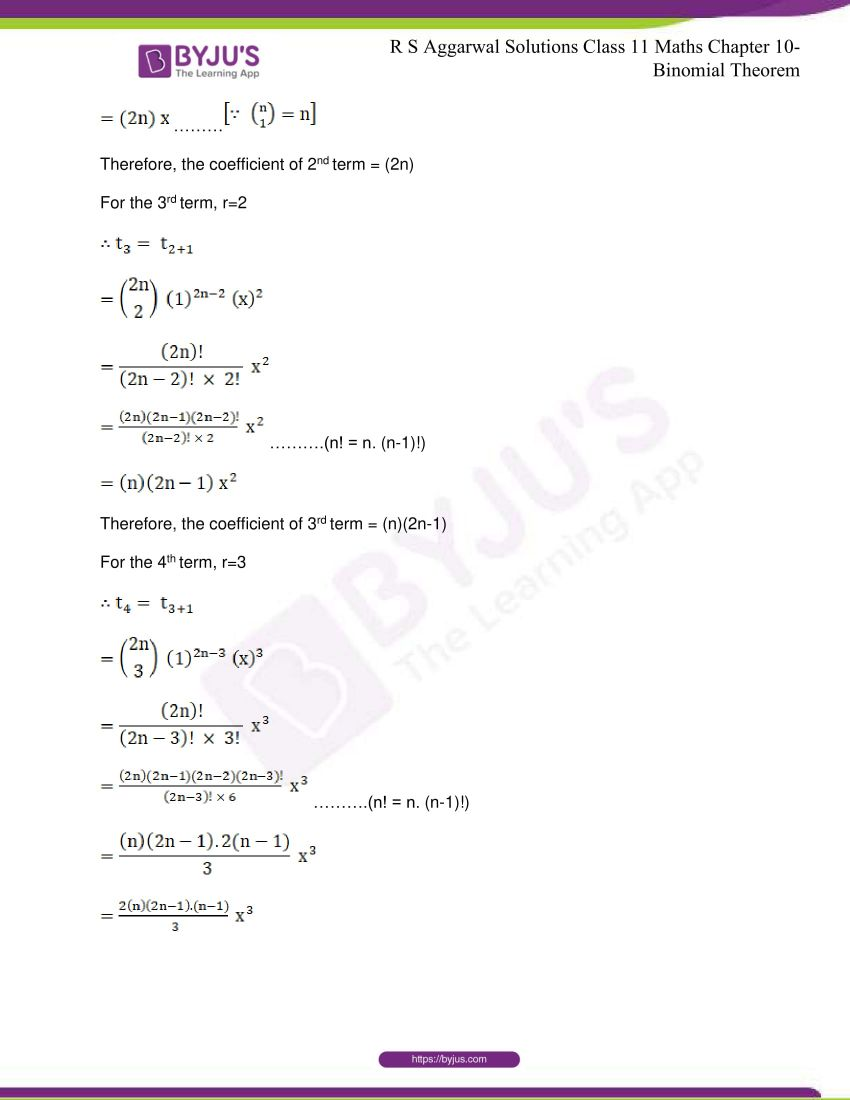 r s aggarwal solutions class 11 maths chapter 10 binomial theorem 69