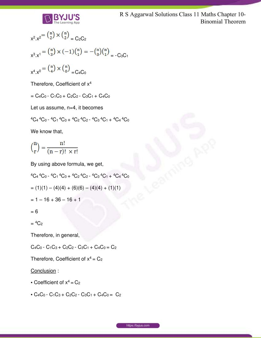 r s aggarwal solutions class 11 maths chapter 10 binomial theorem 75