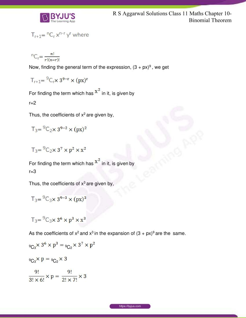 r s aggarwal solutions class 11 maths chapter 10 binomial theorem 81