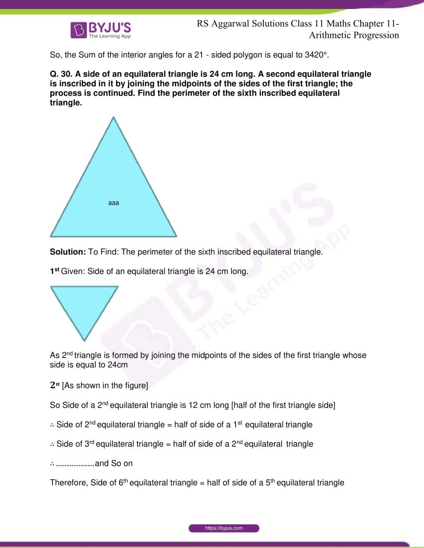 r s aggarwal solutions class 11 maths chapter 11 arithmetic progression 20