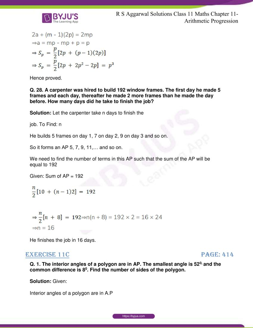 r s aggarwal solutions class 11 maths chapter 11 arithmetic progression 38