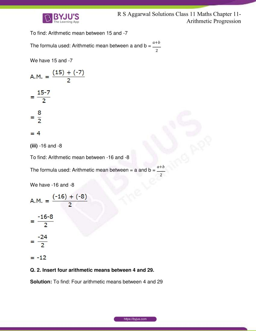 r s aggarwal solutions class 11 maths chapter 11 arithmetic progression 53