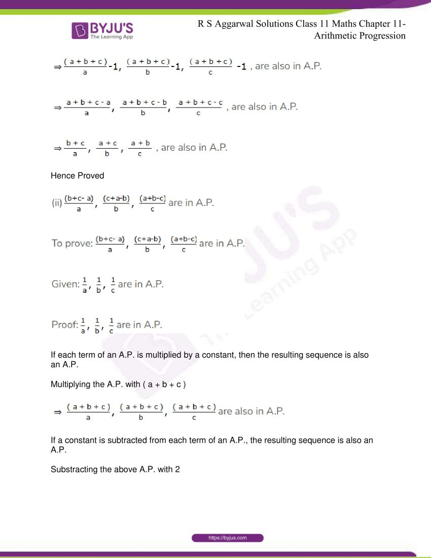 r s aggarwal solutions class 11 maths chapter 11 arithmetic progression 73