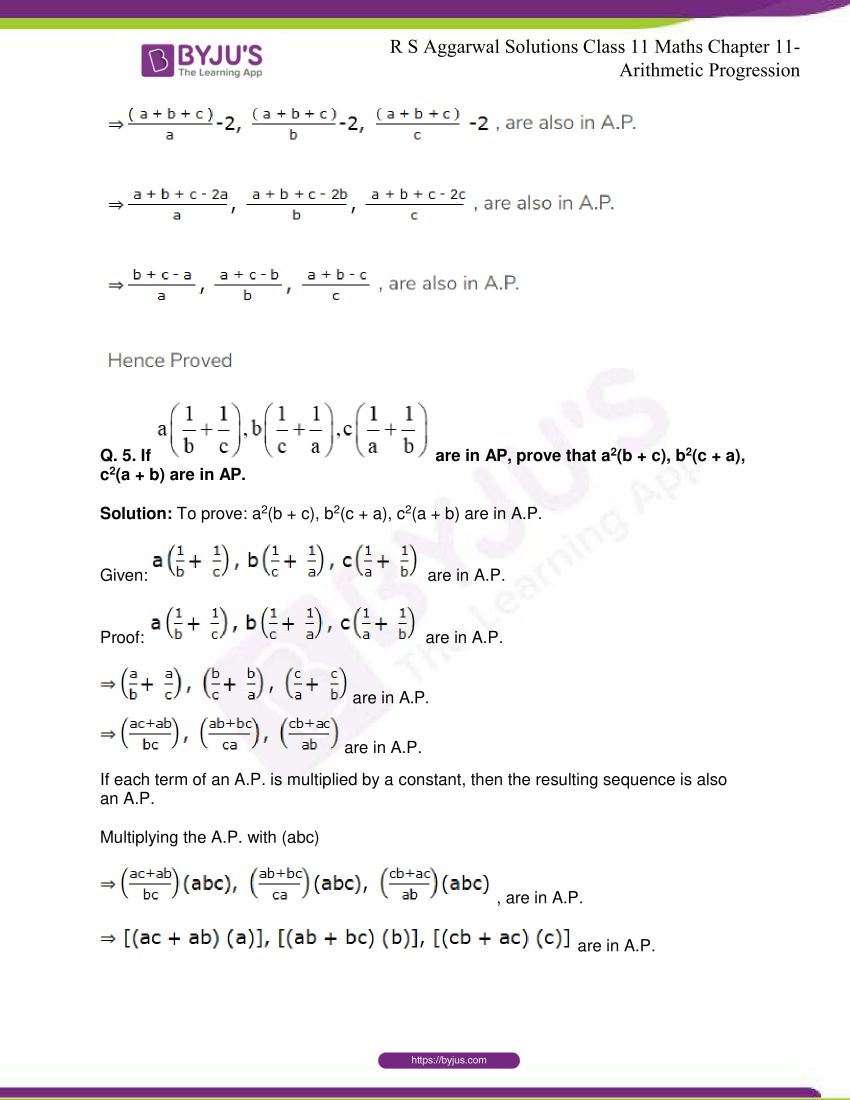 r s aggarwal solutions class 11 maths chapter 11 arithmetic progression 74