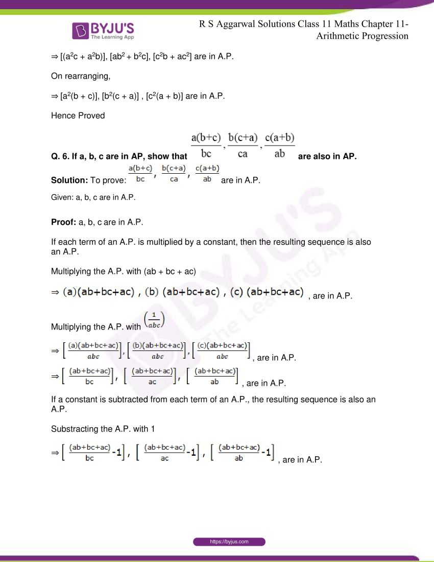 r s aggarwal solutions class 11 maths chapter 11 arithmetic progression 75