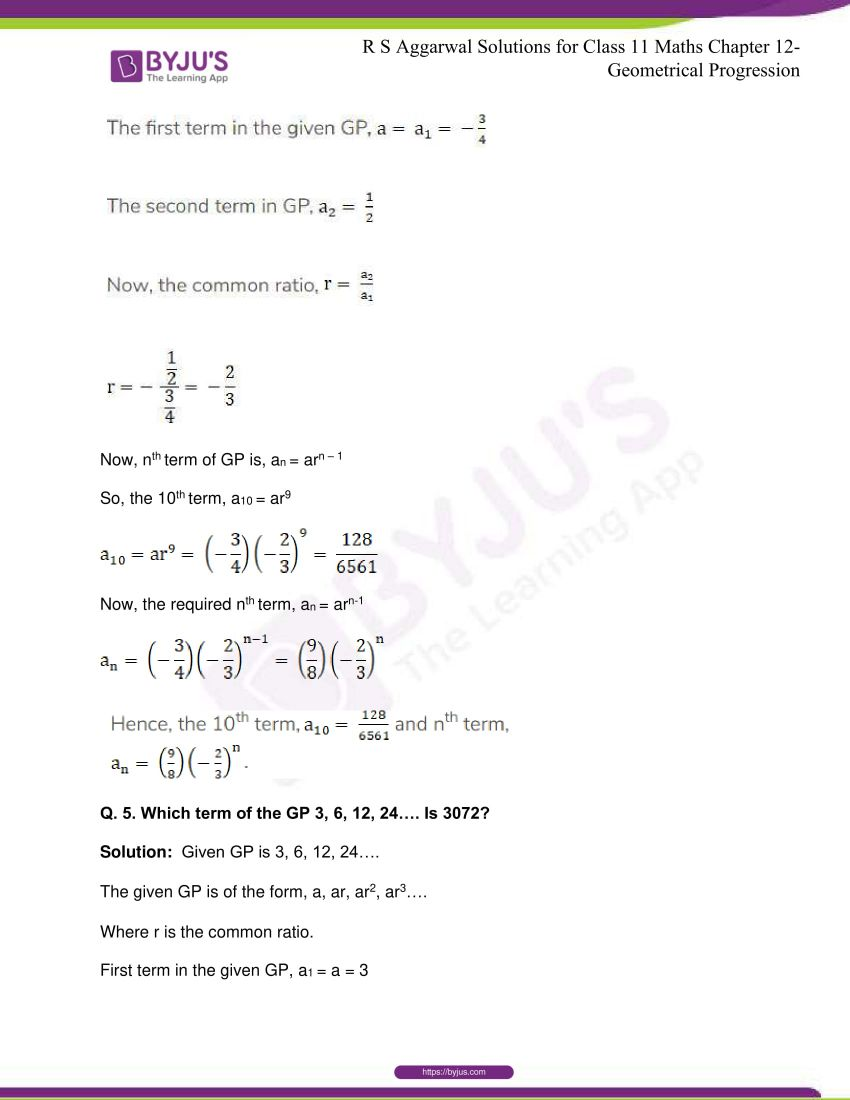 r s aggarwal solutions class 11 maths chapter 12 geometrical progression 004