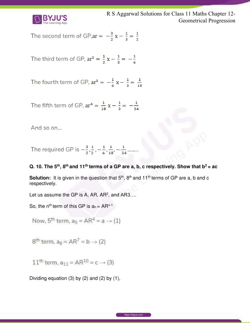 r s aggarwal solutions class 11 maths chapter 12 geometrical progression 009