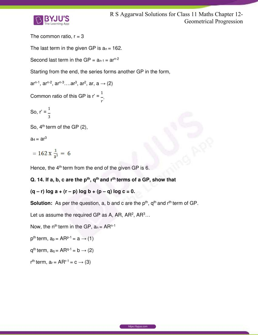 r s aggarwal solutions class 11 maths chapter 12 geometrical progression 012