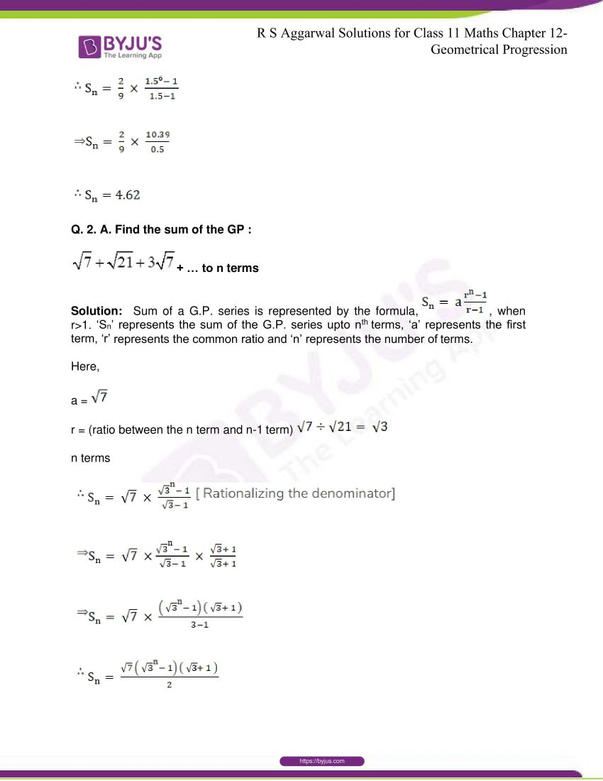 r s aggarwal solutions class 11 maths chapter 12 geometrical progression 024
