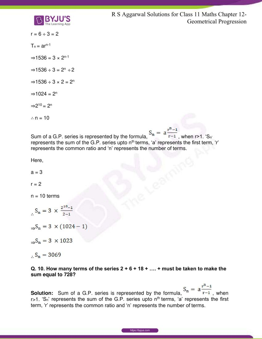 r s aggarwal solutions class 11 maths chapter 12 geometrical progression 038