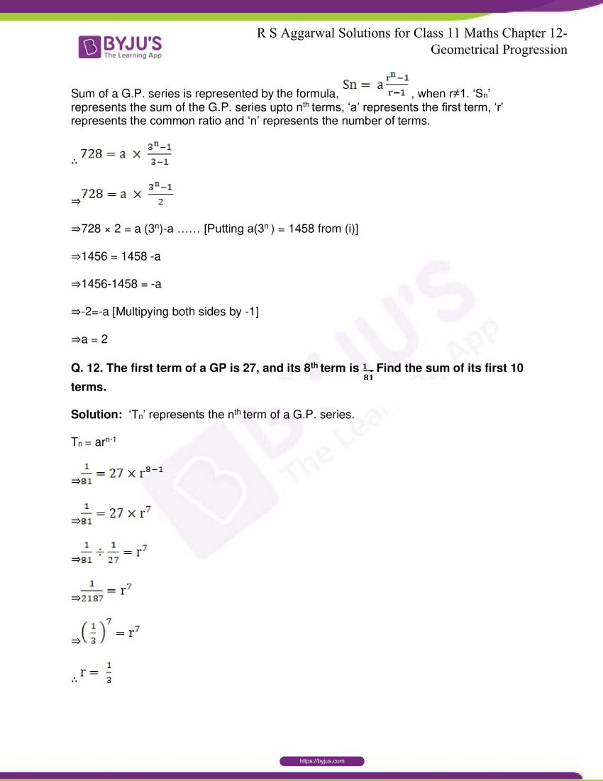 r s aggarwal solutions class 11 maths chapter 12 geometrical progression 040