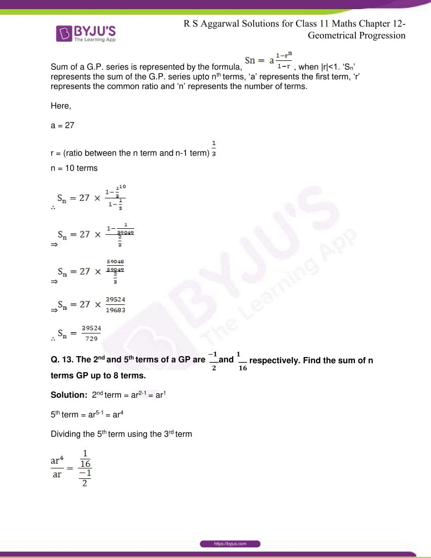 r s aggarwal solutions class 11 maths chapter 12 geometrical progression 041