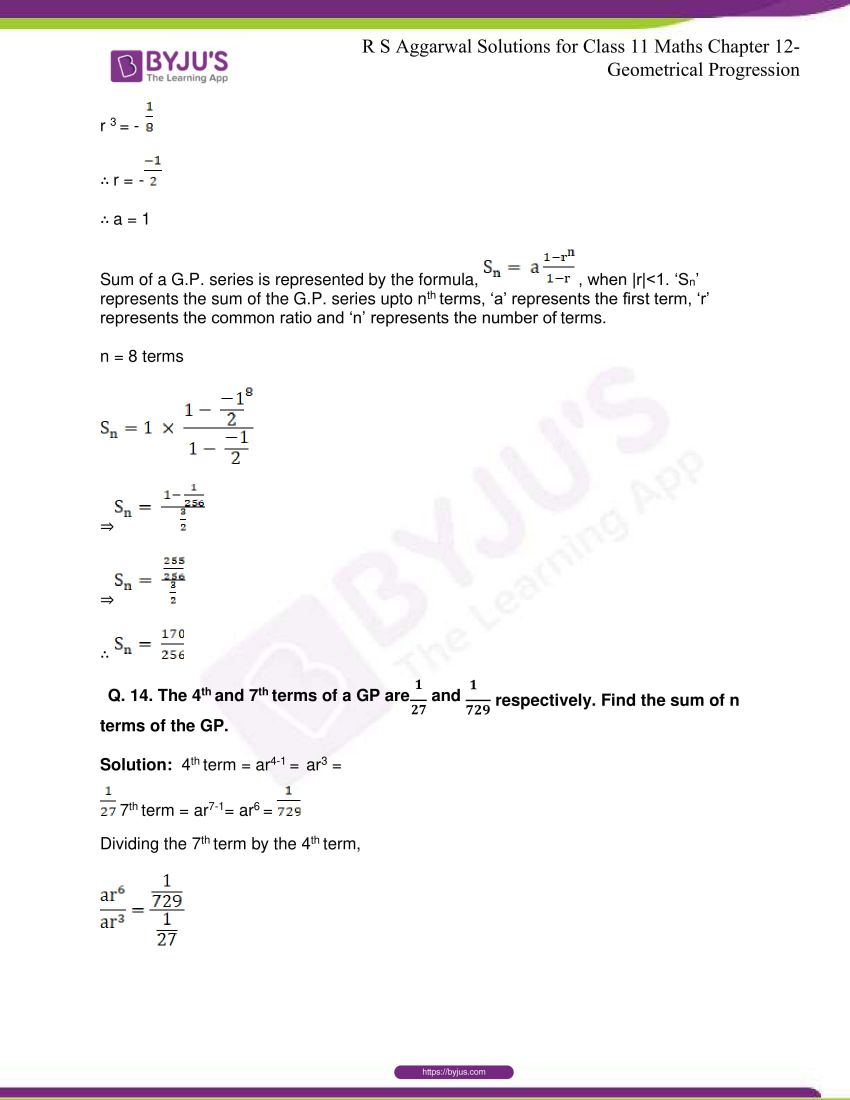 r s aggarwal solutions class 11 maths chapter 12 geometrical progression 042