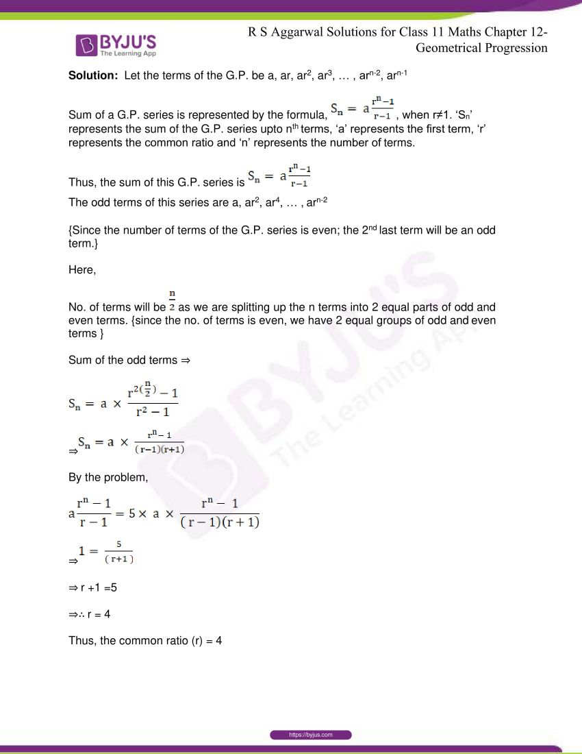 r s aggarwal solutions class 11 maths chapter 12 geometrical progression 044