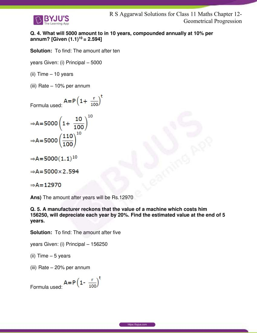 r s aggarwal solutions class 11 maths chapter 12 geometrical progression 048