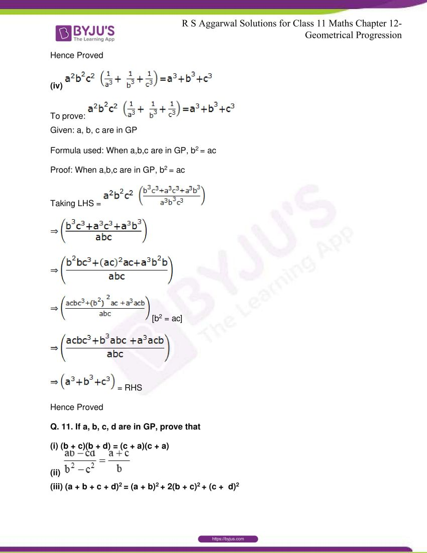 r s aggarwal solutions class 11 maths chapter 12 geometrical progression 063