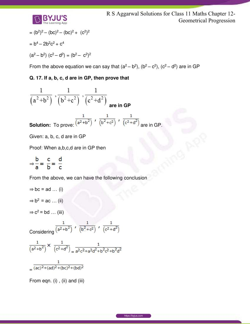 r s aggarwal solutions class 11 maths chapter 12 geometrical progression 071