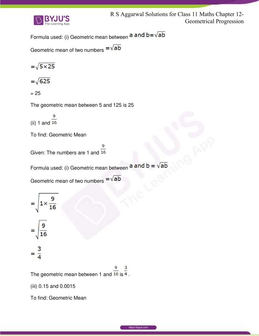 r s aggarwal solutions class 11 maths chapter 12 geometrical progression 077