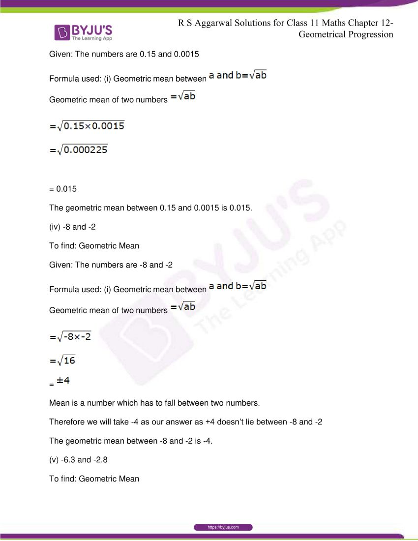 r s aggarwal solutions class 11 maths chapter 12 geometrical progression 078