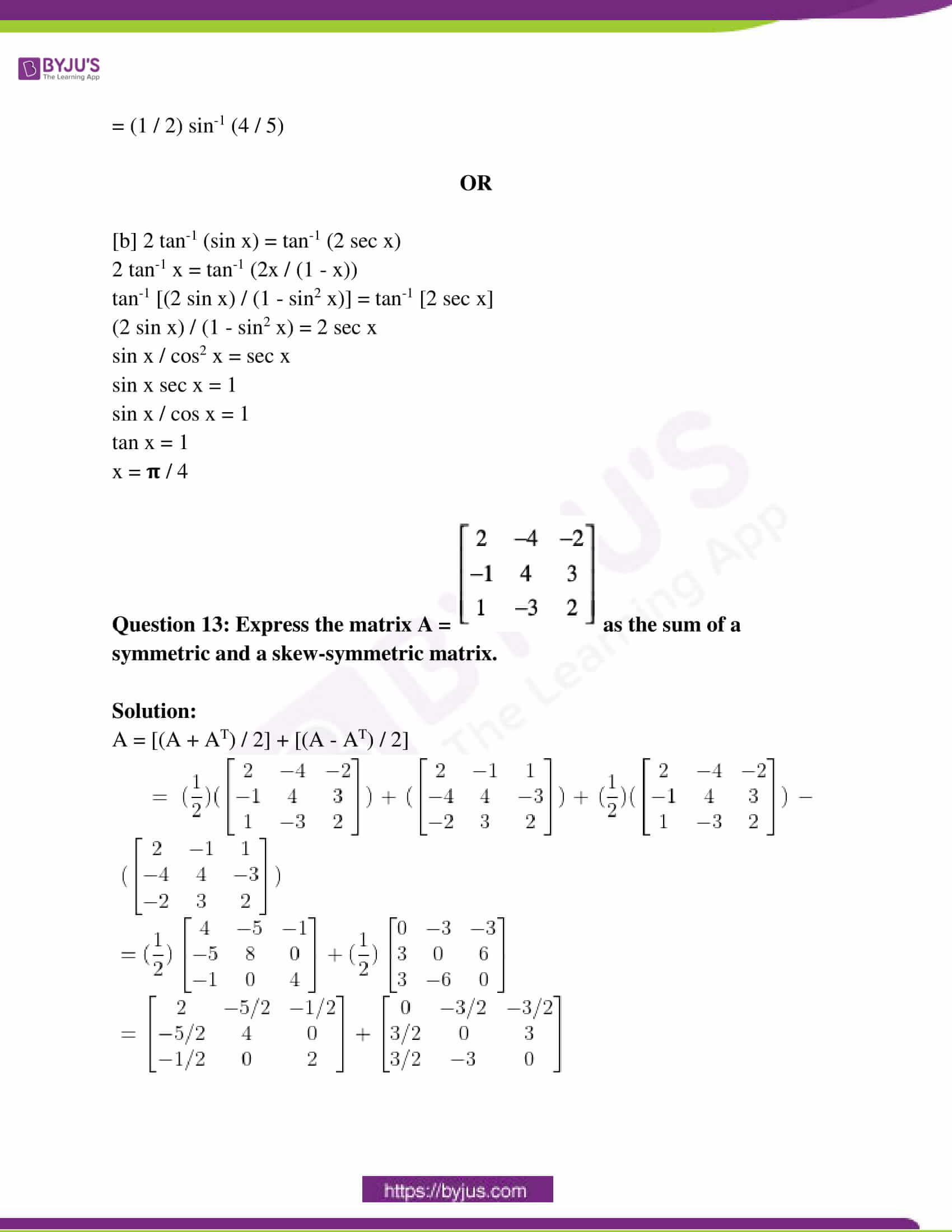 rajasthan class 12 exam question paper solutions march 2016 07
