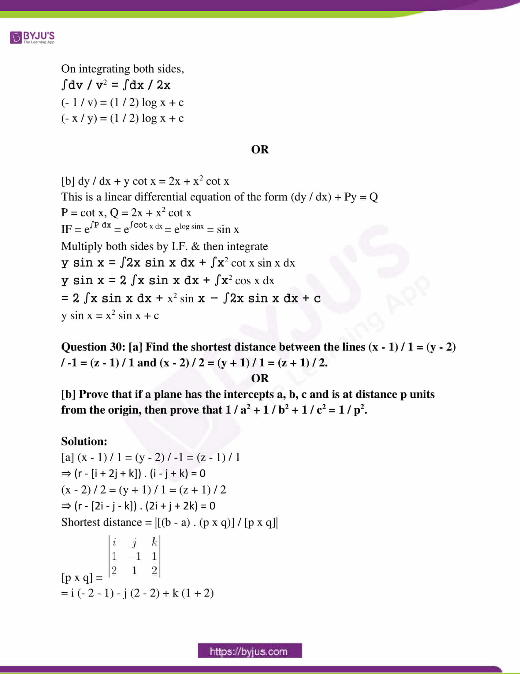 rajasthan class 12 exam question paper solutions march 2016 18