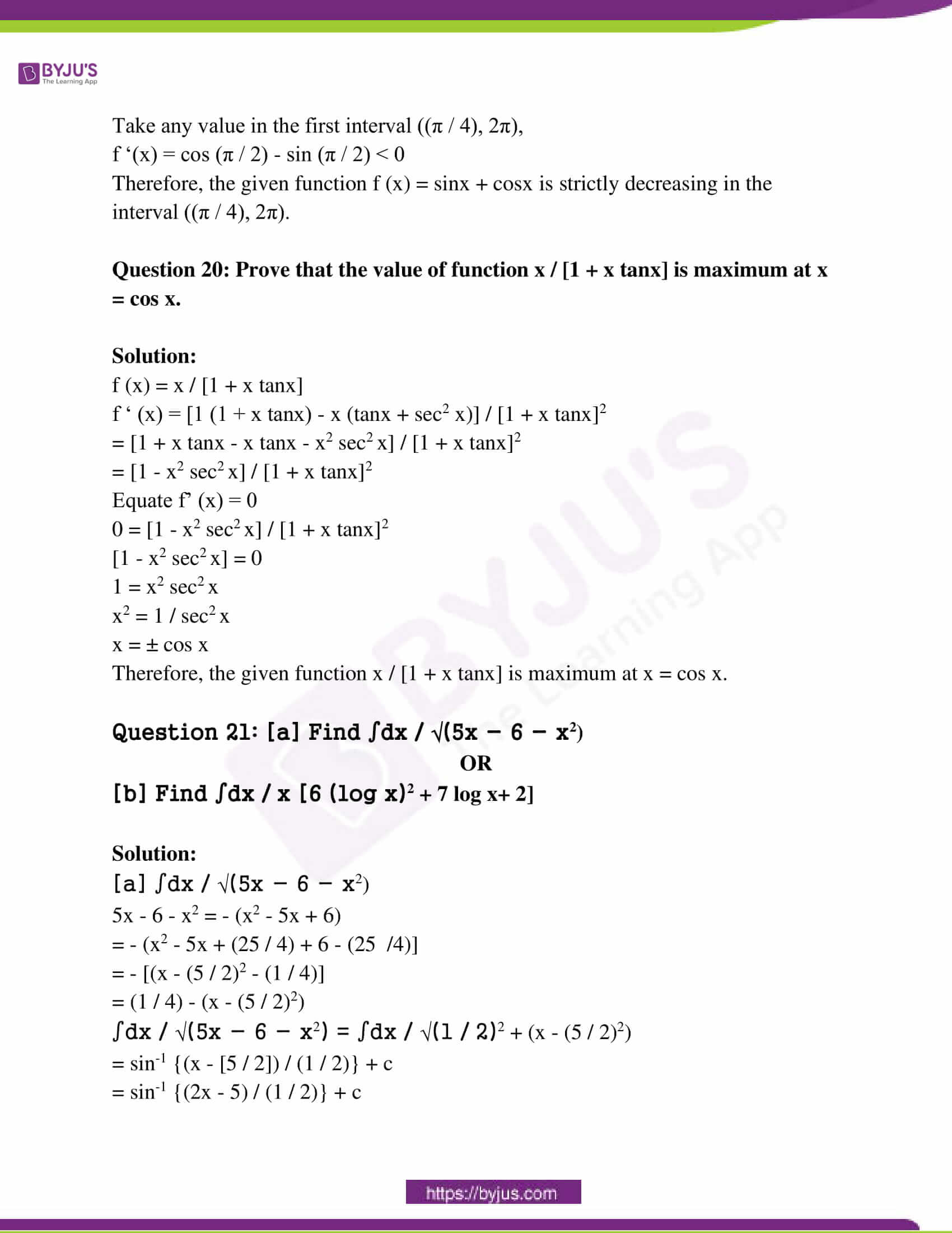 rajasthan class 12 exam question paper solutions march 2018 12